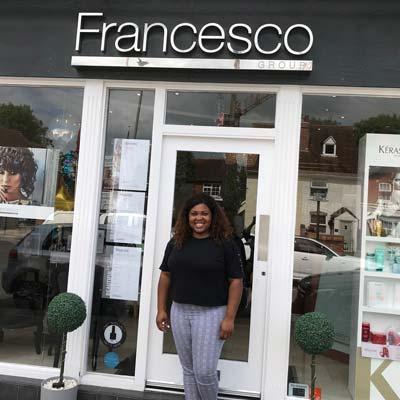 Shalani Williams in-front of her FG Knowle Salon