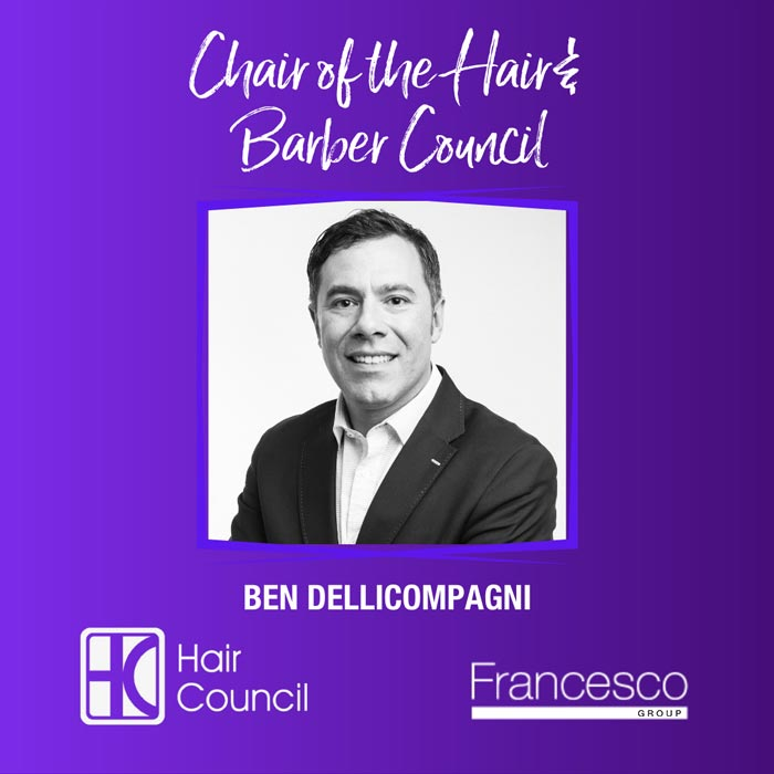 Ben Dellicompagni Announced as the New Chair of the Hair & Barber Council!