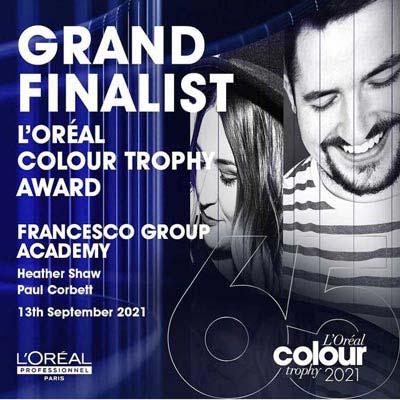 L'Oreal Colour Trophy Grand Finalist Paul Corbett Heather Shaw