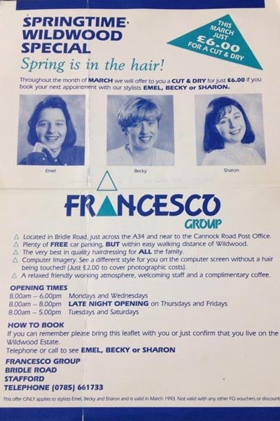 Francesco Groups Pearl Franchisee Becky Whitehouse Celebrates 30 Years at FG - Newspaper Clipping