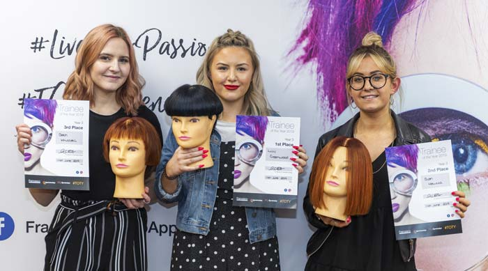 Hairdressing Apprentice Awards at Francesco Group Trainee of the Year Awards