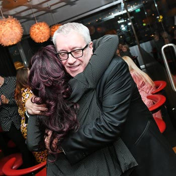 Kerry OSullivan Celebrates 40 Years With Francesco Group - Hugging Daughter Kate
