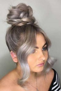 Plaited Top Knot Hair Christmas Party Hair Inspiration