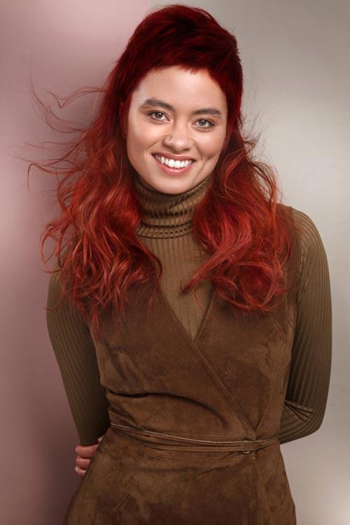 Red Revolution Francesco Group Hair Collection Saffron Red Hair