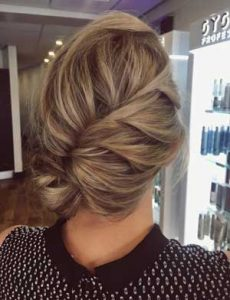 Undone Braided Updo Hair Christmas Party Hair Inspiration