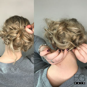 Valentines Day Messy Bun  - Francesco Group