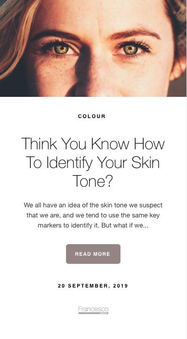 Francesco Group Skin Tone Quiz