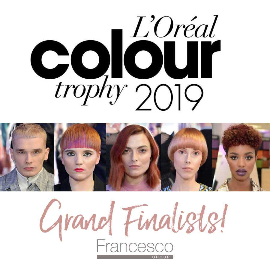 LOreal Colour Trophy Finalists Francesco Group