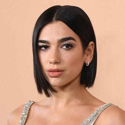 Due Lipa and her Dark Hair